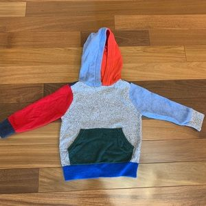 Baby gap toddler boy hooded colorblock sweater 2T